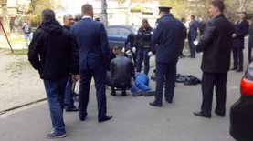 Опубликованы первые фото с места убийства Олеся Бузины
