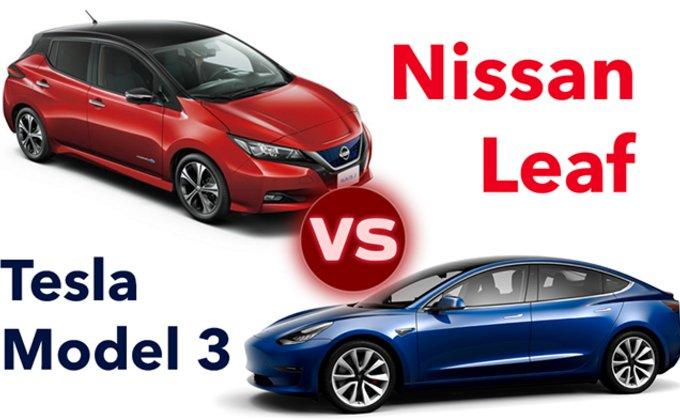 Tesla Model 3 VS Nissan Leaf. Кто круче?