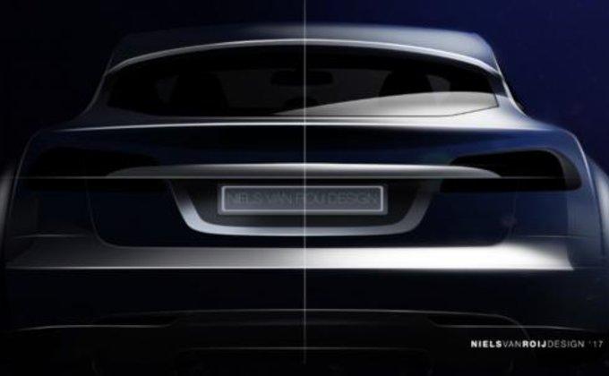 Дизайнеры показали новый электрокар на базе Tesla Model S: фото