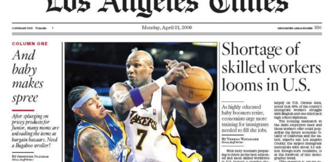 The Los Angeles Times хотят продать за $0,5 млрд - источник - Фото